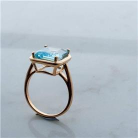 טבעת אבן גדולה ספיר