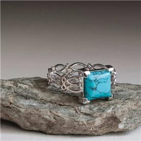 טבעת מעוצבת אבן חן