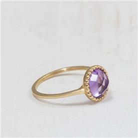 טבעת אבן גדולה סגולה