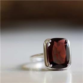 טבעת אבן גדולה סיטרין אדום