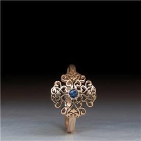 עיצוב קלאסי אבן ספיר קטנה