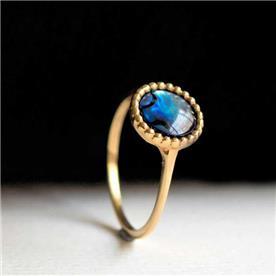 טבעת אבן גדולה כחול