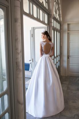 שמלת כלה חצאית מקסי קפלים