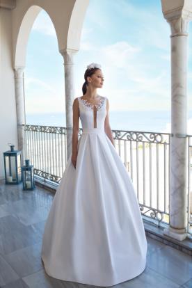 שמלת כלה חצאית קפלים רחבים