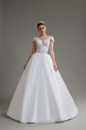 שמלת כלה חצאית נפוחה ממשי