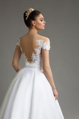 שמלת כלה חצאית משי קפלים