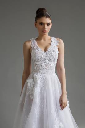 שמלת כלה חצאית אורגנזה