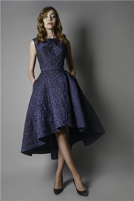 נטלי קריינין - שמלת ערב עם חצאית נפוחה
