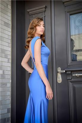 שמלות ערב כחולה מבריקה