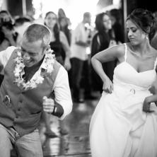 החתן והכלה בריקוד