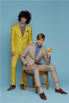 חליפת חתן: חולצה, חליפה בצבע חרדל, וסט, חליפת שני חלקים, חליפת שלושה חלקים, מכנסיים, בלייזר, חליפה בגזרה ישרה, חליפה בדוגמה חלקה, חליפה בצבע אפור - באמוס סקוור - bamoss square