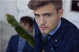 חליפת חתן: חולצה, חליפת שני חלקים, חליפת שלושה חלקים, חליפה בגזרה ישרה, חליפה בדוגמה משובצת, חליפה בדוגמה חלקה, חליפה בצבע כחול - באמוס סקוור - Bamoss square