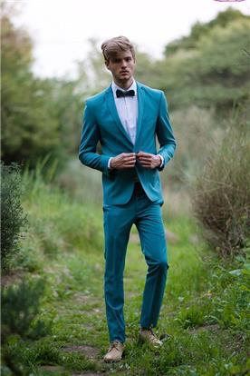 חליפת חתן: חולצה, חליפה בצבע כחול רויאל, חליפת שני חלקים, חליפת שלושה חלקים, מכנסיים, חליפה בגזרה רחבה, חליפה בגזרה ישרה, חליפה בדוגמה חלקה - באמוס סקוור - Bamoss square