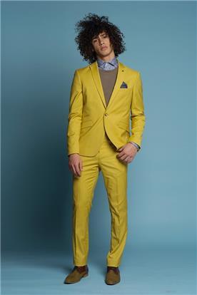 חליפה בצבע צהוב