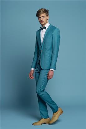 חליפת חתן: חולצה, חליפה בצבע כחול רויאל, חליפת שני חלקים, חליפת שלושה חלקים, מכנסיים, חליפה בגזרה ישרה, חליפה בדוגמה חלקה - באמוס סקוור - Bamoss square