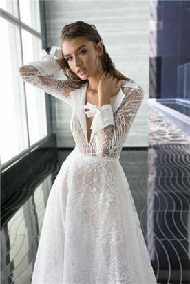 שמלת כלה צנועה עדינה