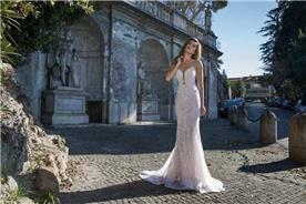שמלת כלה: שמלה בסגנון רומנטי, שמלה עם תחרה, שמלה עם מחשוף, שמלה עם מחוך, שמלה בצבע לבן - דימיטריוס דליה - שמלות כלה