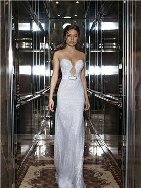 שמלה כלה עם פפיון