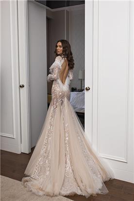 שמלת כלה בגוון ורוד עתיק