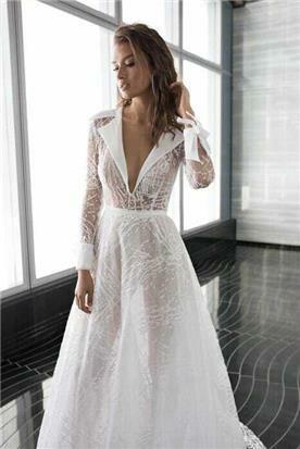 שמלת כלה מיוחדת צנועה