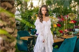 שמלת כלה: שמלה בסגנון רומנטי, שמלה עם תחרה, שמלה עם מחשוף, שמלה עם שרוולים, שמלה בצבע לבן - דימיטריוס דליה - שמלות כלה