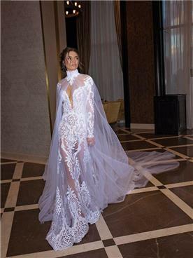 שמלה כלה זהובה