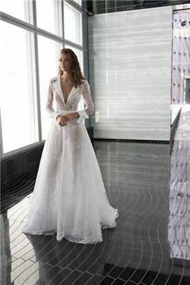 שמלת כלה צנועה נפוחה מיוחדת