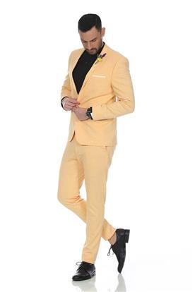 חליפת טוקסידו צהובה