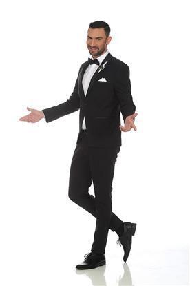 חליפת חתן: קולקציית 2019, חליפת שלושה חלקים, חליפה בגזרה ישרה, חליפה בצבע שחור - N.B.O  חליפות חתן