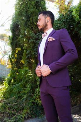 חליפת חתן סגולה