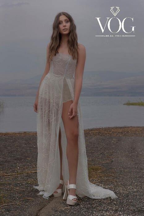 שמלה כלה מחשוף