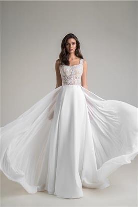 שמלות כלה עם כתפיות דקות