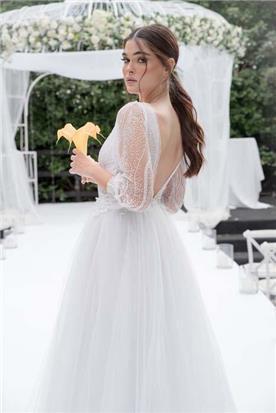 שמלה כלה עם חלק תחתון קצר