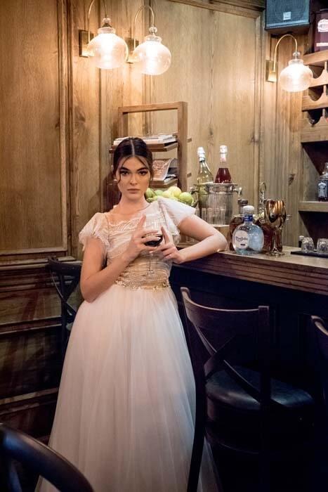 שמלה ערב זהובה