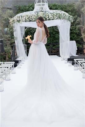 שמלה כלה עם שרוול קצר