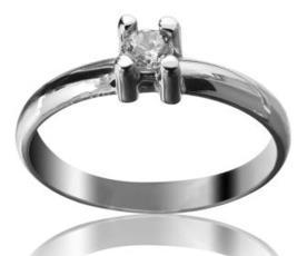 טבעת סוליטייר מעוצבת לכלה
