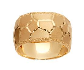 טבעת זהב מעוטרת כוורת