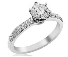 טבעת קלאסית מזהב לבן