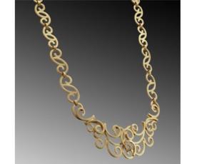 שרשרת זהב מעוטרת ספירלות