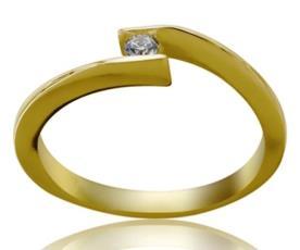 טבעת אירוסין בעיצוב עדין