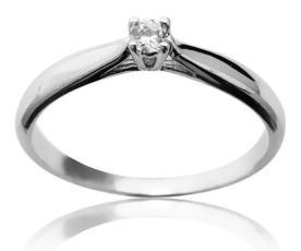 טבעת אירוסין עם יהלום עדין