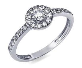 טבעת עם עיגול משובץ יהלומים