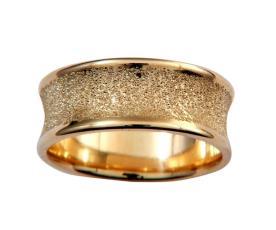טבעת רחבה עם חספוס עדין