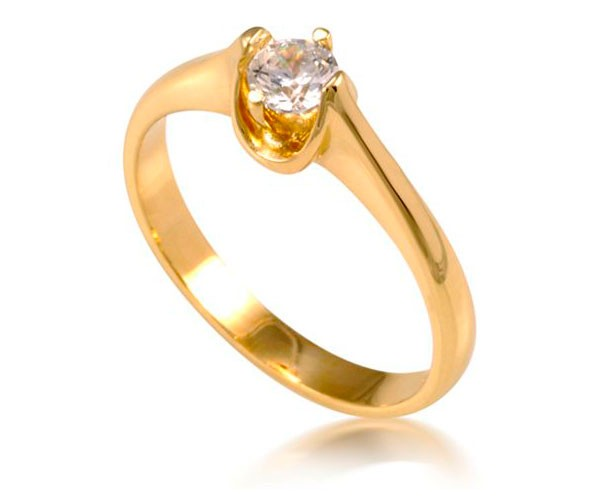 טבעת אירוסין בעיצוב קלאסי