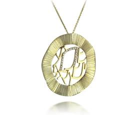 שרשרת עם תליון זהב צהוב