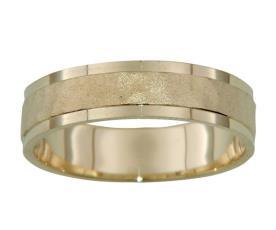טבעת נישואין עם שוליים חלקים
