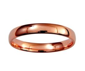 טבעת זהב אדום עדינה