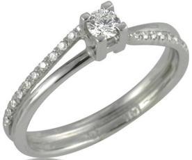 טבעת קלאסית משובצת לכלה