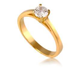 טבעת זהב צהוב בעיצוב מודרני