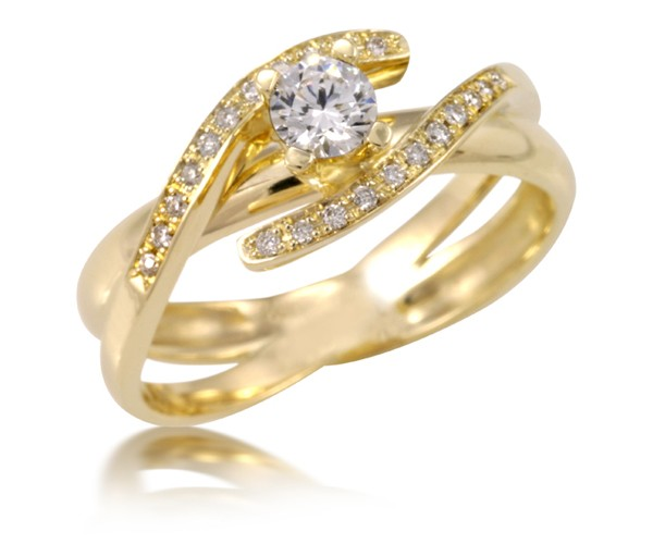 טבעת אירוסין קלועה ייחודית